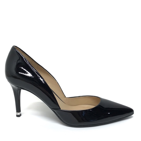 b4968c36d7e9 MICHAEL KORS Ashby Flex Black Patent Leather Heels.  M 5c6d599045c8b3b532dc4406